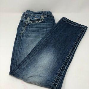 Miss Me 27 Cuffed Capri Jeans Embellishe E4